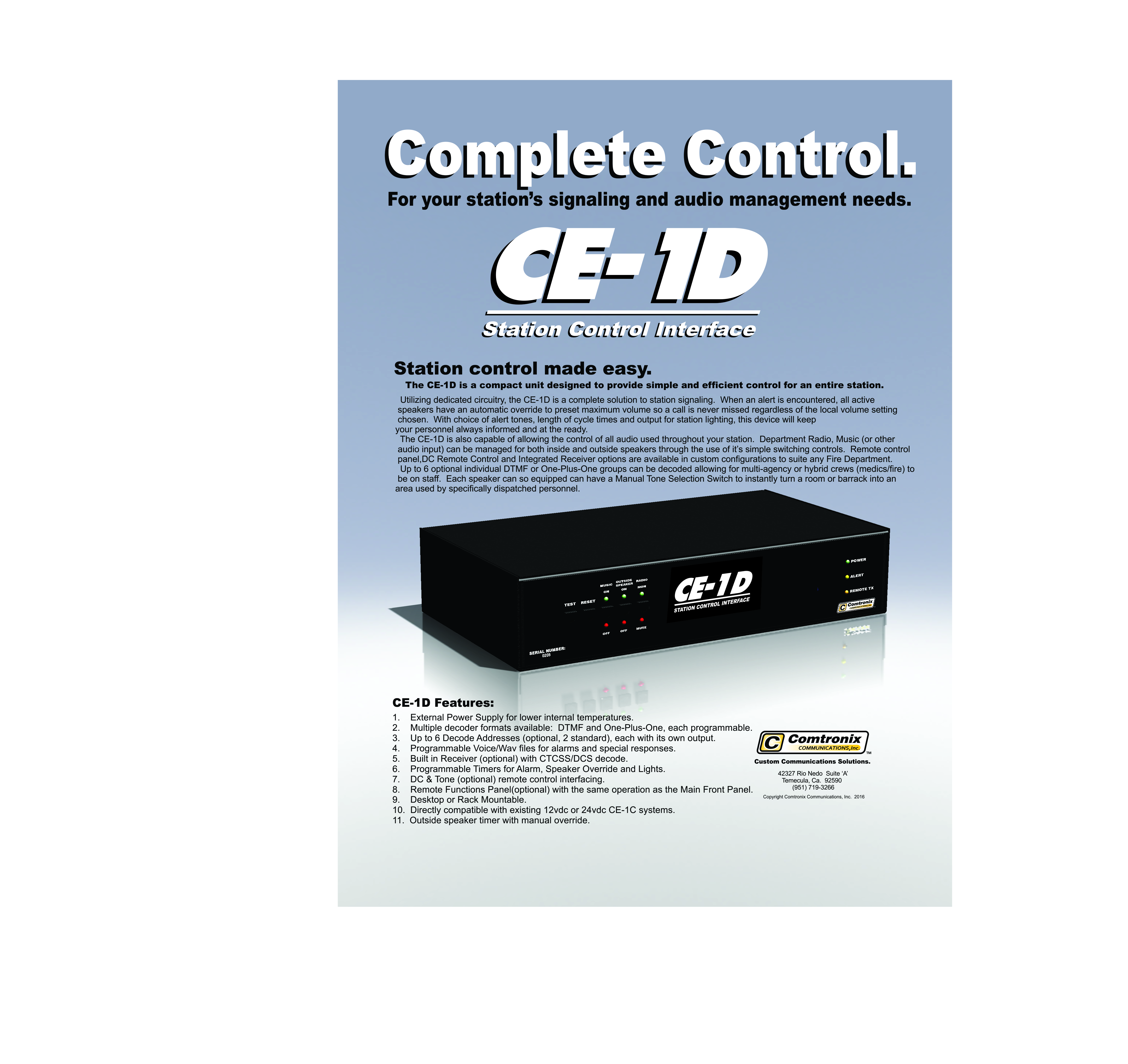 CE-1D Flyer Front Page 2016