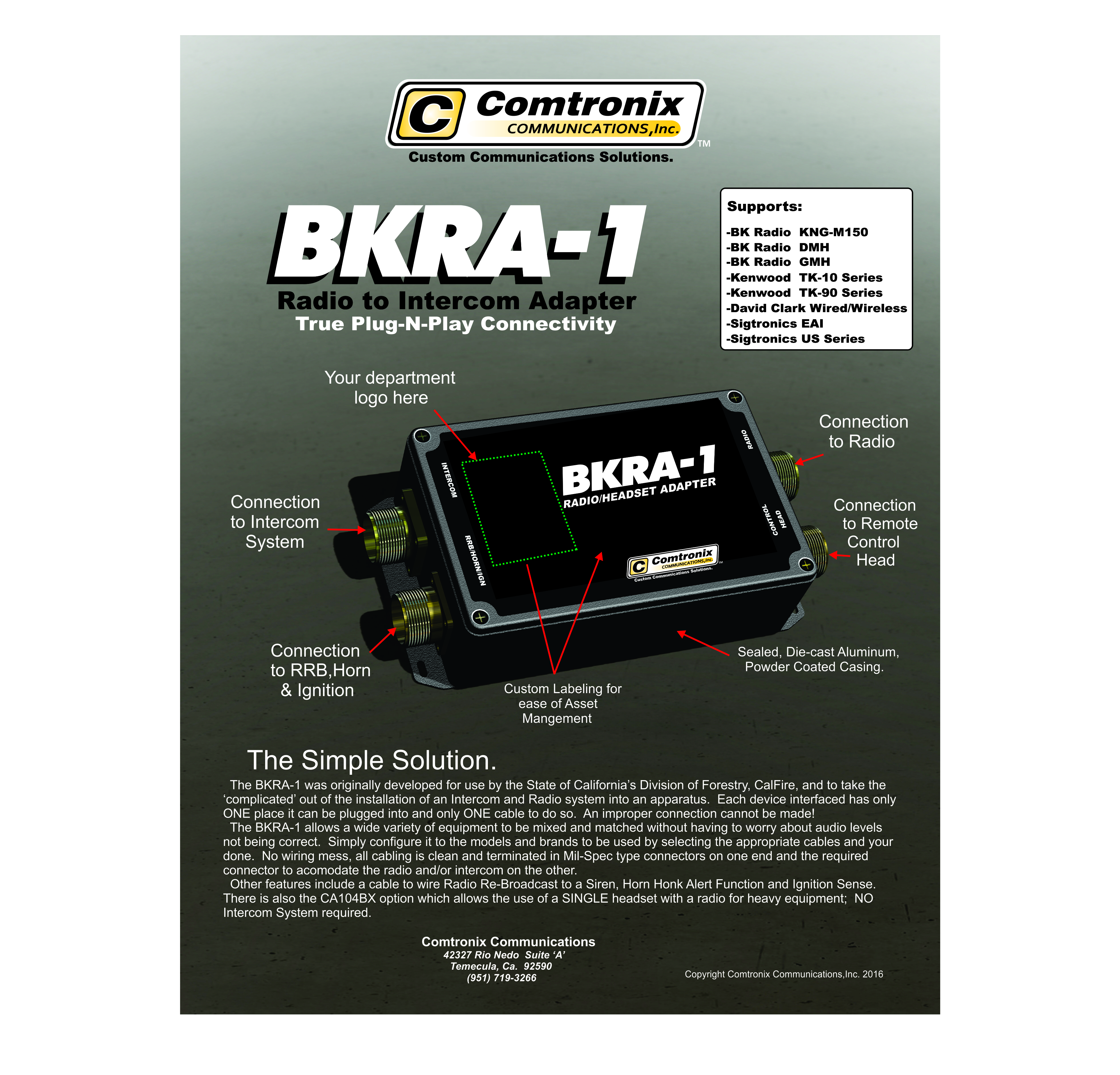BKRA-1 Flyer Front Page